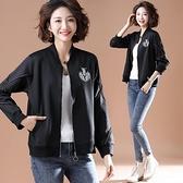 外套上衣開衫風衣中大尺碼L-5XL新款夾克寬鬆棒球服短外套NB11-7122.