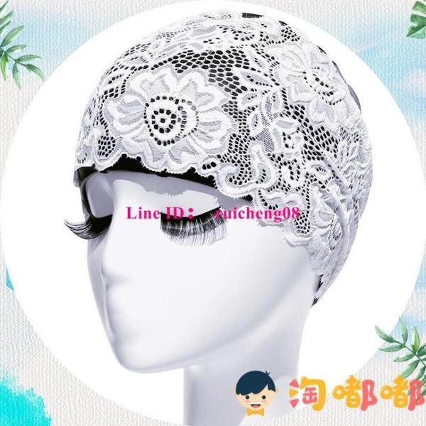 飛魚游泳帽泳帽女長發成人防水加大韓國時尚護耳大碼PU蕾絲【淘嘟嘟】