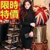 洋裝-好搭好穿秋冬新品優質質感保暖高領羊毛連身裙63c19【巴黎精品】
