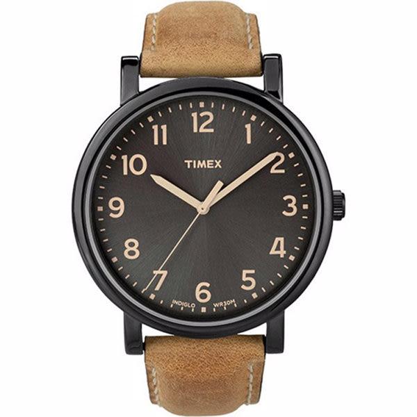 TIMEX 復刻系列 經典復古風格時尚腕錶-黑x咖啡-TXT2N677 /美國/天美時