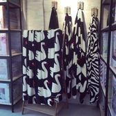 韓式天鵝珊瑚絨雙層水貂絨毛毯秋冬空調午睡蓋毯子單雙人床單   SMY9122【男人與流行】
