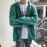 毛衣外套男士秋冬季韓版潮流寬鬆連帽帥氣外穿毛線衣學生針織開衫 雙十二全館免運