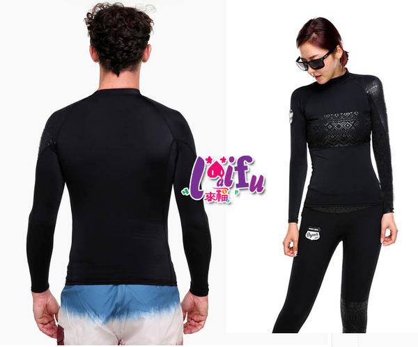★草魚妹★V175沖浪服超黑力浮潛長袖泳衣單車服情侶泳衣,男生單賣泳衣上衣一件990元