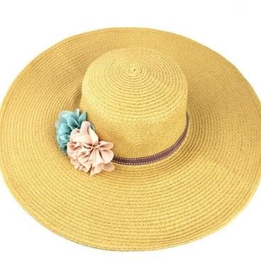 遮陽太陽帽子大簷帽 大草帽 -uai0035