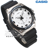 CASIO卡西歐 MWC-100H-7A 簡潔大方指針男錶 橡膠錶帶 防水手錶 學生錶 白色 MWC-100H-7AVDF
