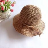 兒童草帽子夏天女童沙灘帽韓版秋冬寶寶漁夫帽海邊母女親子帽草帽  初語生活