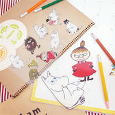 PGS7 卡通系列商品- 嚕嚕米 嚕嚕咪 Moomin 防水 貼紙 行李箱 透明 小不點【SHP7656】