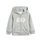 Gap女幼棉質毛圈布內裡連帽衫567906-石楠灰色