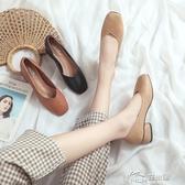 豆豆鞋 2019新款秋款瑪麗珍奶奶鞋中跟粗跟豆豆鞋單鞋女真皮百搭