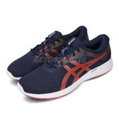 Asics 慢跑鞋 Patriot 11 藍 紅 男鞋 基本款 運動鞋 【PUMP306】 1011A568402