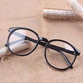 鏡框韓版平光眼鏡有鏡片男女士款潮復古豹紋裝飾眼睛近視眼鏡框架【販衣小築】