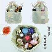 少女心化妝包時尚大容量旅行多功能小號簡約便攜抽繩化妝品收納包   初見居家