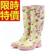 雨靴-女雨具防水浪漫防滑女長筒雨鞋54k3【時尚巴黎】