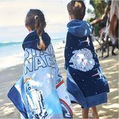 兒童海邊速干浴袍沙灘游泳毛巾女便攜吸水連