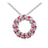 水晶項鍊+925純銀吊墜-圓圈造型生日情人節禮物女飾品3色73bb167【時尚巴黎】