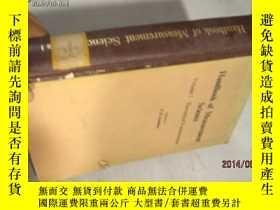二手書博民逛書店手冊的測量科學VOL.1HANDBOOK罕見OF MEASURE
