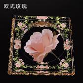 歐式玫瑰水晶玻璃煙灰缸創意家居「巴黎街頭」