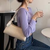 手提包 法國質感小眾包包奶茶色腋下包女2021新款潮流行網紅手提法棍包 艾維朵