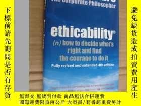 二手書博民逛書店Ethicability:罕見How To Decide Wha
