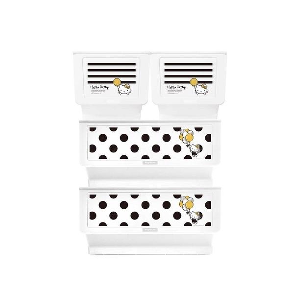 收納櫃 收納【R0197】Kitty黑點點款白底+黑條紋白底大嘴鳥整理箱(混裝) MIT台灣製 樹德 完美主義