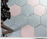 六角磚花磚200x230mm 純色射線款