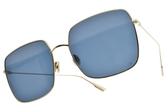Dior 太陽眼鏡 STELLAIRE1 LKSA9 (金-藍鏡片) 歐美時尚率性百搭款 墨鏡 #金橘眼鏡