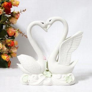 情侶天鵝裝飾品客廳禮品