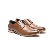 Waltz-雅致雕花小尖頭紳士鞋612038-06棕