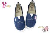 卡娜赫拉 童鞋 女鞋 拼布懶人鞋 休閒鞋 K7570#藍色◆OSOME奧森鞋業