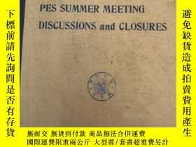 二手書博民逛書店IEEE罕見1975 PES SUMMER MEETING DI