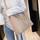 時尚單肩大包包女新款大容量托特包簡約手提側背包大學生上課 初語生活