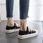 潮鞋春季帆布鞋女學生韓版百搭ulzzang布鞋港味板鞋小黑鞋子 安妮塔小舖