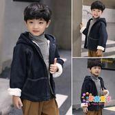 童裝男童冬裝外套2018新款兒童牛仔夾克中大童冬季加厚洋氣上衣潮