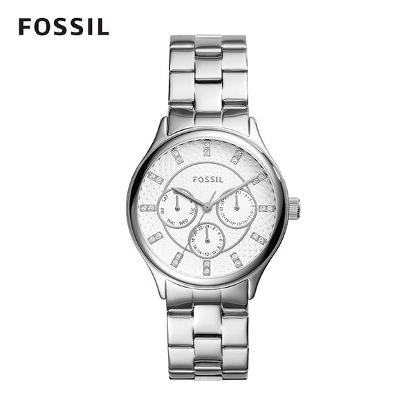 FOSSIL Modern Sophisticate三眼不銹鋼女錶 36mm BQ1560