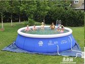 成人加厚游泳池充氣嬰幼兒童戲水池小孩寶寶游泳池大型家庭游泳池igo     易家樂