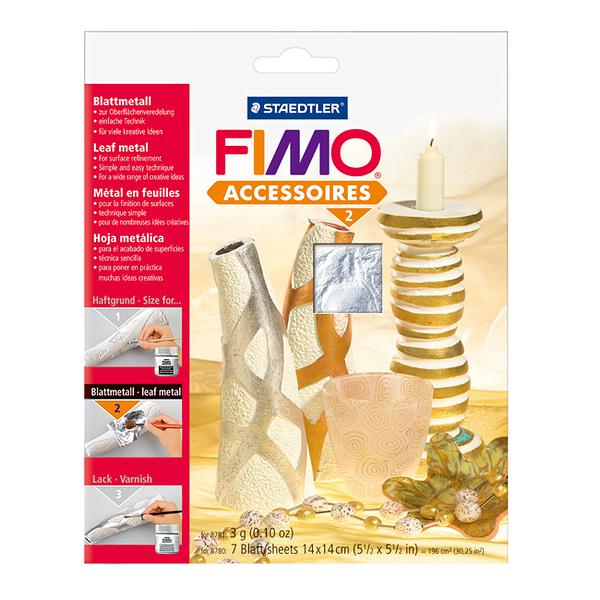 施德樓FIMO軟陶 ACCESSORIES MS8780-81 銀色 軟陶專用裝飾金箔