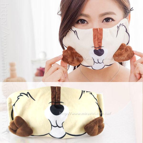 【Disney 】3D立體造型舒適成人口罩(男女通用)-嘴巴