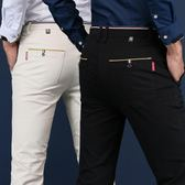 西裝褲 中年男士休閒褲男寬鬆直筒男褲秋季爸爸裝褲子男青年修身長褲子男 免運直出
