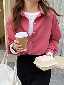 春秋白襯衫女設計感小眾春裝2021年新款時尚寬鬆復古港味長袖襯衣 韓國時尚週