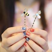 正韓精美髮飾可愛小蜜蜂一字髮夾邊夾小夾子髮卡邊卡