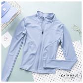 Catworld 純色立領修身運動外套【15003740】‧S/M/L