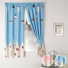 窗簾 魔法電燈與移動城堡遮光窗簾/兒童房...