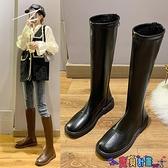 長筒靴 瘦瘦靴馬丁靴女英倫風2021新款秋冬長靴百搭長筒靴潮騎士 寶貝 免運