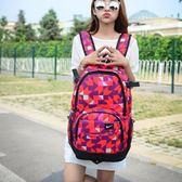 初中學生書包女雙肩包2017韓版輕便帆布大容量旅行背包校園情侶包·樂享生活館