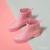 雨鞋雨鞋女士防滑雨靴中短筒時尚款外穿女式廚房膠鞋加絨套低幫防水 麥吉良品