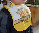 【韓風童品】麵包超人防水圍兜 寶寶口水巾 可愛造型印花圍兜   無袖防水飯衣