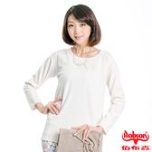【BOBSON】女款雪紡紗緹織布長袖上衣(33081-81)