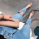 膝蓋破洞 牛仔褲 彈性 牛仔 長褲 鉛筆褲 小腳褲 窄管褲 貼腿褲 合身 貼身 緊身 性感 刷破 顯瘦 NXS
