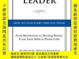 二手書博民逛書店【精裝英文原版】《領導的講話藝術》Speaking罕見As a Leader: How to Lead Every