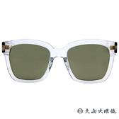 HELEN KELLER 林志玲代言 H8613 (透明-銀) 方框 偏光太陽眼鏡 久必大眼鏡